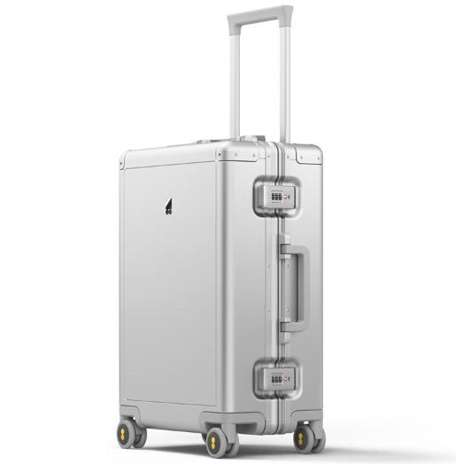 地平线8号(LEVEL8)商务行李箱旅行箱(标准版)铝镁合金登机箱20英寸拉杆箱 银色(锤科出品)