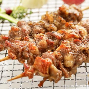 大庄园 尚品带骨羔羊排烧烤串 400g/袋(约10串)腌制入味 烧烤食材羊肉串半成品 生鲜羊肉  烤箱适配 *5件