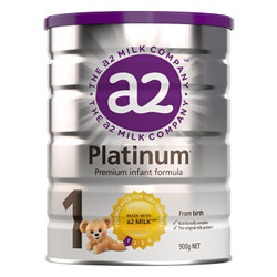 a2 艾尔 Platinum 白金版 婴幼儿奶粉 1段 900g *5件