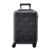 不莱玫(bromen bags)巧克力细磨砂拉杆箱 静音万向轮网红密码箱男女登机箱大容量旅行箱行李箱 黑20英寸