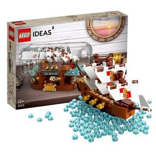 百亿补贴 : LEGO 乐高 Ideas 创意系列 21313 瓶中船