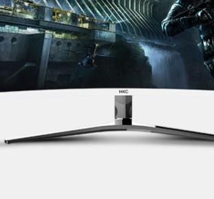 HKC C340 34英寸21:9宽屏显示器 100Hz 4K 曲面