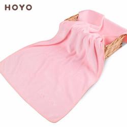 日本进口品牌HOYO毛巾吸水柔软亲肤 纯色加厚速干 成人男女情侣婴儿可用 带挂钩 淡雅粉单条毛巾