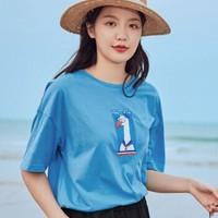 茵曼 1802281 女士短袖T恤