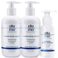 2件装 | EltaMD 氨基酸泡沫卸妆洁面乳 207毫升 泡沫绵密 温和不刺激 *2件