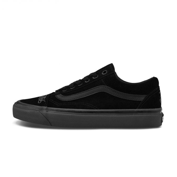 VANS 范斯 Old Skool系列 36 DX VANS x NBHD x Mr. Cartoon三方联名 中性帆布鞋 黑色 44.5