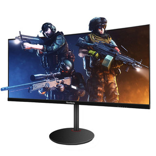 ViewSonic 优派 优派21:9带鱼屏200hz曲面30英寸显示器VX3015电竞游戏2K宽屏电脑35显示屏 黑色