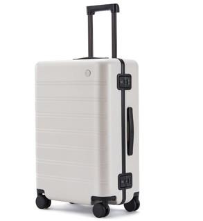 NINETYGO 90分 90分轻质行李箱 PC旅行箱男女 静音万向轮拉杆箱曼哈顿拉链版 20英寸托运箱