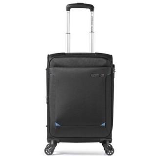 AMERICAN TOURISTER 美旅 拉杆箱 经典简约商务款万向轮密码锁登机旅行箱 软箱21英寸大容量可扩展TZ9黑色