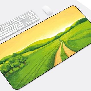 Langtu 狼途 鼠标垫超大号可爱女生笔记本键盘垫锁边办公加厚卡通家用学生桌垫