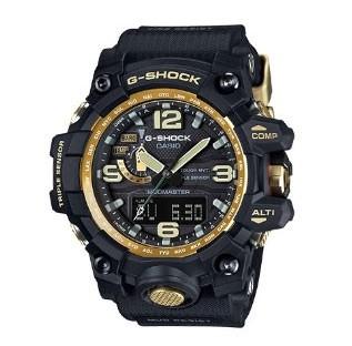 CASIO 卡西欧 G-SHOCK系列 GWG-1000GB-1APR 男士太阳能手表 56.1mm 黑盘 黑色树脂表带 圆形