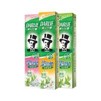 DARLIE 黑人 超白竹炭茶倍健牙膏家庭套装 190g*3支(赠牙刷*3支)