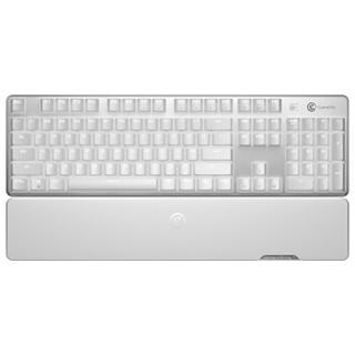 限地区 : GameSir盖世小鸡GK300双模蓝牙无线2.4G机械键盘带掌托 电脑手机通用,办公游戏竞技电竞背光键盘 红轴 白色