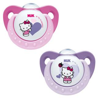 NUK Hello Kitty 印花硅胶安抚奶嘴 安睡型 *4件