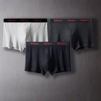 Miiow 猫人 男士莫代尔平角内裤 3条装 多色可选