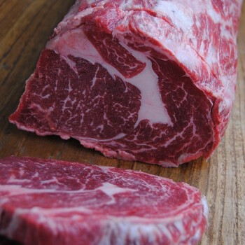当顿庄园 原肉整切牛排1500g 整切西冷5片+眼肉5片