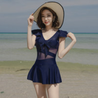汐诗威 A91218 连体裙式泳衣