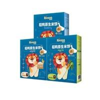 禾泱泱 婴儿稻鸭磨牙饼干辅食 32g 3盒装