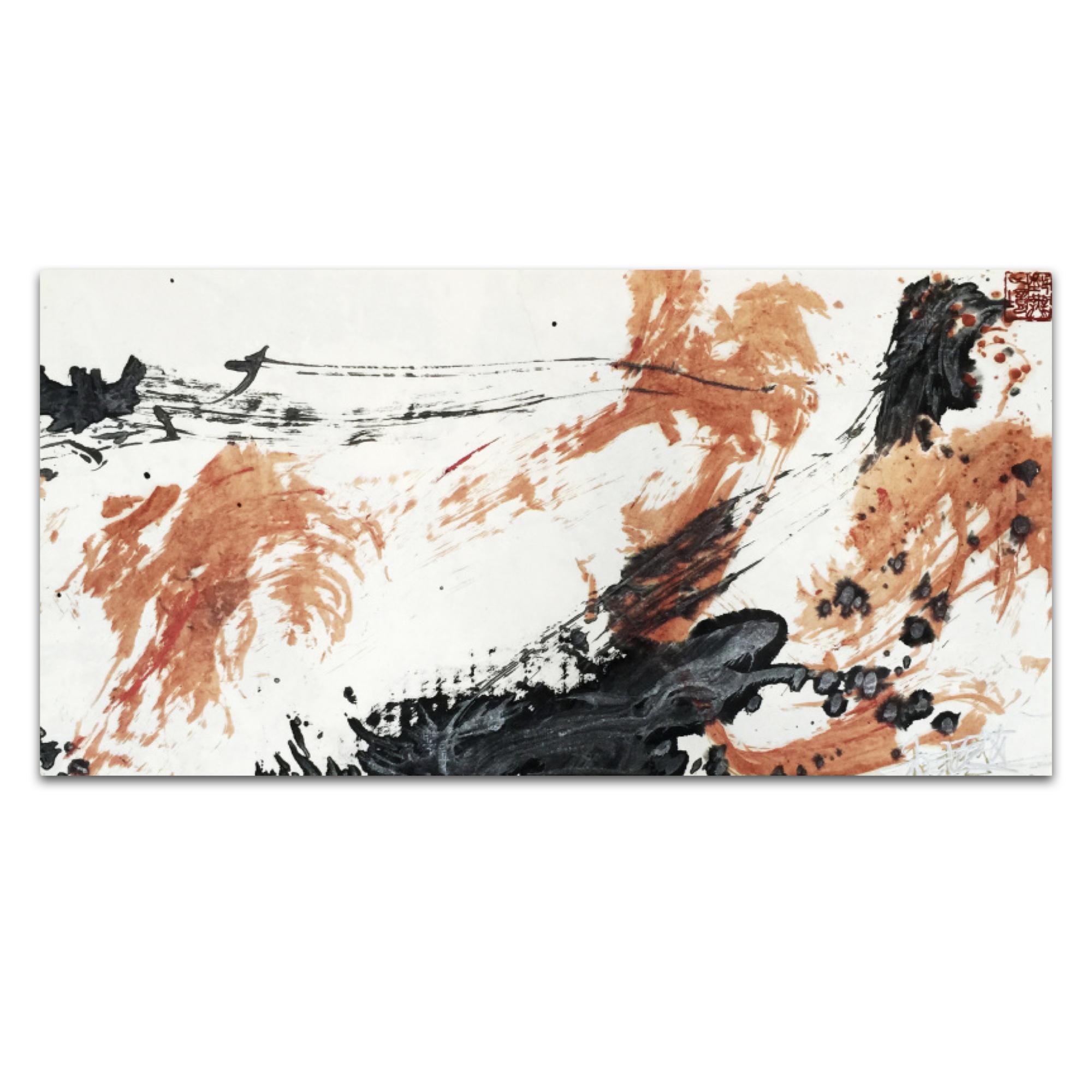 艺术品 盛中国·庞杜将军_杜撼_纸本彩墨_80.0x40.0cm