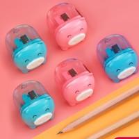deli 得力 手动迷你卷笔刀 4只装 送10支铅笔