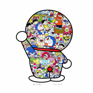 艺术品 村上隆《Doraemon's Daily Life》1000版 65.5x57.39cm
