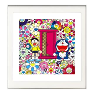 艺术品 艺术品 村上隆联名限量原创版画 《多啦a梦任意门I》限量1000版 60x60cm