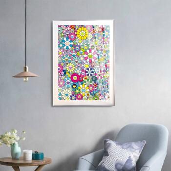 艺术品 村上隆限量原创版画《太阳花》53x73.8cm 限量300版