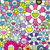 艺术品:村上隆限量原创版画《太阳花》53x73.8cm 限量300版