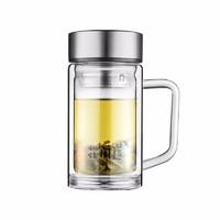 花间道 双层茶水分离玻璃杯 380ml