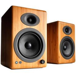 声擎(Audioengine)A5+ Wireless 高级书架式蓝牙音箱 焦糖竹
