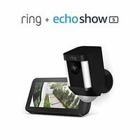 Ring 高清无线 安全监控摄像头+Echo Show 5套装