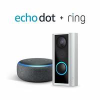 Ring Peephole Cam 猫眼智能门铃 + Echo Dot 3