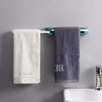 移动专享:GENGXI 免打孔壁挂毛巾置物架一变三折叠 1个