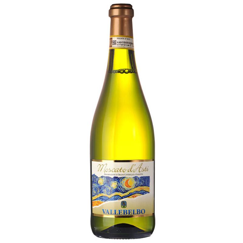 意大利DOCG级别梵高星空莫斯卡托甜白葡萄酒moscato起泡酒阿斯蒂起泡酒750ml *3件