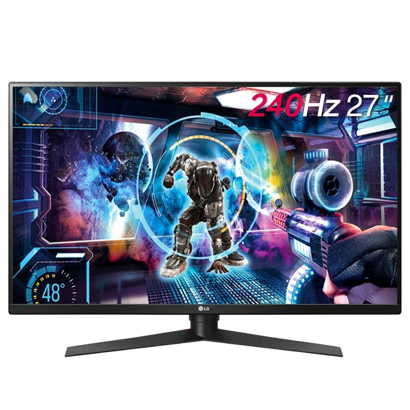 LG 乐金 27GK750F-B 27英寸 TN电竞显示器(FreeSync、1920x1080、240Hz、1ms)