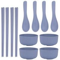 陶迪 小麦秸秆碗碟套装 12件套