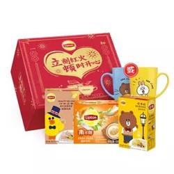 Lipton 立顿 新年奶茶礼盒装 533g *2件