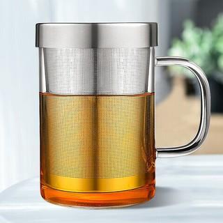 茶适 C6409 过滤网玻璃泡茶杯 450ml