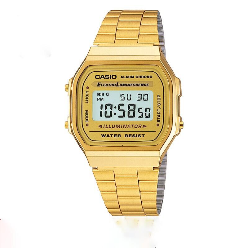 CASIO 卡西欧 时尚小金表系列 A168WG-9WDF 男士电子手表