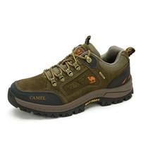 CAMEL 骆驼 男士 防滑越野徒步鞋 反毛绒牛皮 车缝线 户外鞋 A632026925 卡其 41