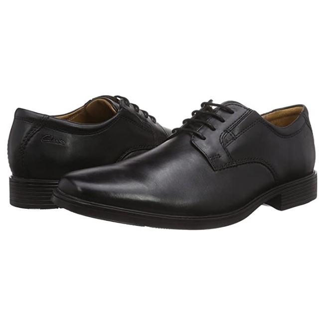 Clarks Tilden Plain 261103 男士正装皮鞋 黑色 41.5
