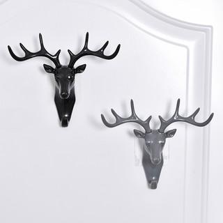 鹿角美式家居装饰挂钩墙上置物架壁挂创意墙面个性鹿头墙壁钥匙架