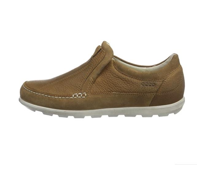 ecco 爱步 Footwear Cayla 女士休闲皮鞋 Amber US4.5