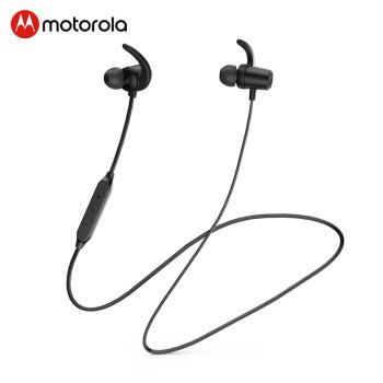 Motorola 摩托罗拉 VerveLoop108 颈挂式运动蓝牙耳机 磁吸入耳式无线耳机 手机通话 超长续航 骑士黑
