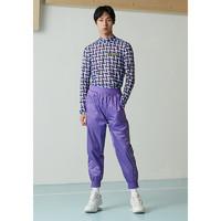 mixseven9 18S/S 男装友谊商店反光印花宽松慢跑裤束脚休闲裤子