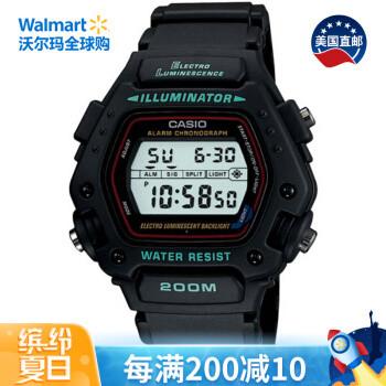 京东PLUS会员:CASIO 卡西欧 DW290-1V 男款运动腕表