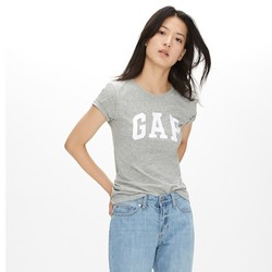 Gap 盖璞 254770 女装 徽标LOGO纯棉基本款短袖T恤 *2件