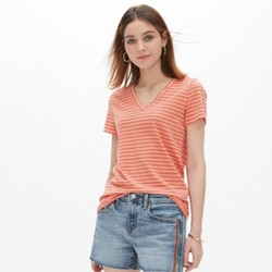 Gap 盖璞 440753 女装 条纹V领短袖T恤 *2件