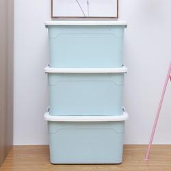 佳佰 收纳箱 蓝色 55L 三个装 *2件 +凑单品