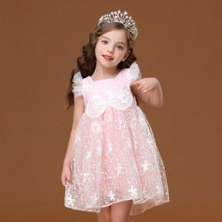 印象童年女童连衣裙春夏装2020超洋气儿童装小女孩公主裙子蓬蓬纱礼服 *5件